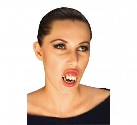 Dientes de Vampiro Oro para Halloween