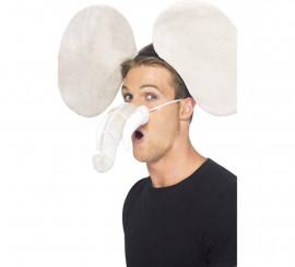 Kit de Elefante: Orejas y Trompa o Nariz con colmillos