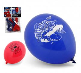Bolsa de 5 Globos de Spiderman colores surtidos de 23 cm