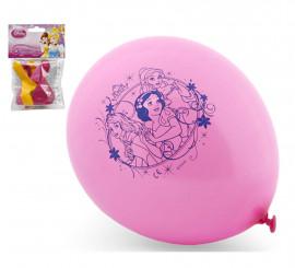 Bolsa de 5 Globos de Princesas colores surtidos de 23 cm
