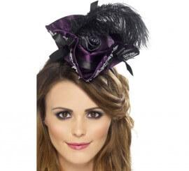 Mini Sombrero Mujer Pirata color Morado