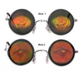 Gafas Holográficas 2 surtidos 13x4.5 cm