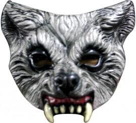 Máscara de Lobo de media cara