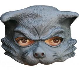Masque de Chat Noir Demi-visage en Latex Halloween