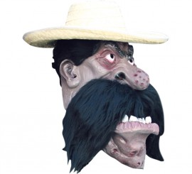Masque de Emiliano Zapata Méxicain en Latex Halloween