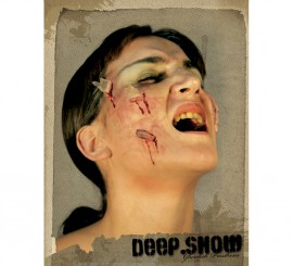 Maquillaje FX heridas profundas para Halloween