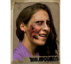 Maquillaje FX heridas c/ cucarachas para Halloween