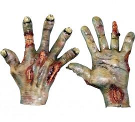 Mains de Zombies Pourries en Latex Halloween