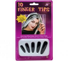 Uñas de Bruja negras adhesivas
