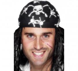 Bandana Pirata con Calaveras Blancas