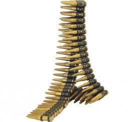 Canana o Cinturón de 60 balas 96 cm