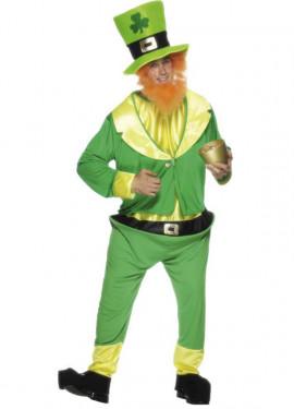 Disfraz de Duende Verde Irlandés Leprechaun para Hombre