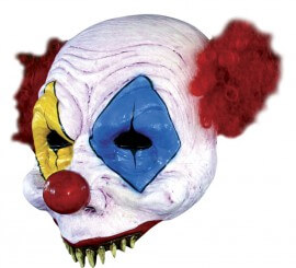 Masque de Clown demi-visage en Latex Halloween