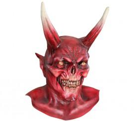 Máscara The Red Devil de látex para Halloween