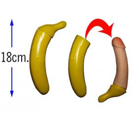 Plátano con sorpresa de 18 cm para Despedidas de Soltera