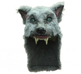 Casco Gray Wolf Lobo Gris para Halloween