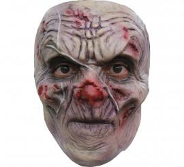 Máscara Scrawny Ghoul Zombie cicatriz para Halloween