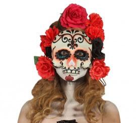 Media Careta de Calavera para Halloween