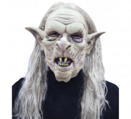 Masque de Troll avec cheveux pour Halloween