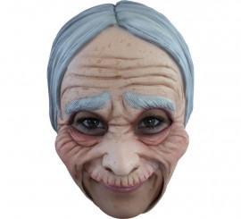 Masque Vieille Dame sans menton en Latex pour Halloween