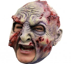 Máscara Zombie Rotted sin Barbilla para Halloween