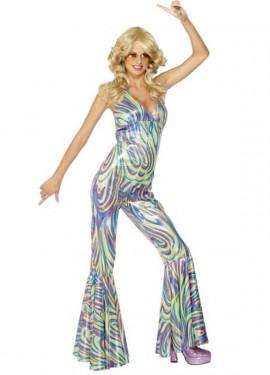 Disfraz Disco Dancing Queen de los 70 para Mujer