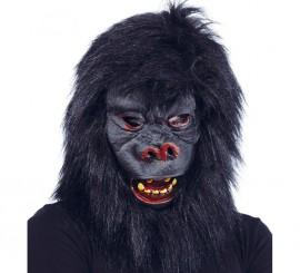 Masque de Gorille Noir avec cheveux Halloween