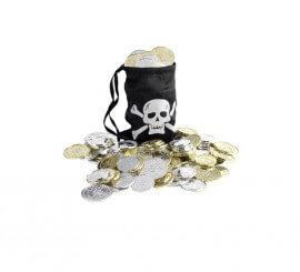 Bolsa del Tesoro Pirata con Monedas