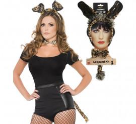 Kit de Leopardo Sexy: Orejas, Pajarita y Cola