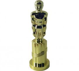 Estatua en forma de Oscar dorado de plástico de 24 cm