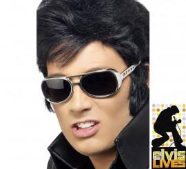 Gafas de Sol auténticas de Elvis Presley montura Plateada
