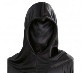 Cagoule noire en tissu pour Halloween