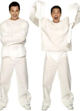 Disfraz de Loco con Camisa de Fuerza para Hombre