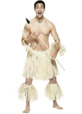 Disfraz De Guerrero Zulú Africano para Hombre