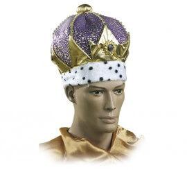 Corona o Turbante de Rey lujo adulto 2 colores surtidos