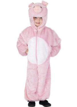 Disfraz de Cerdo Rosa para Niños