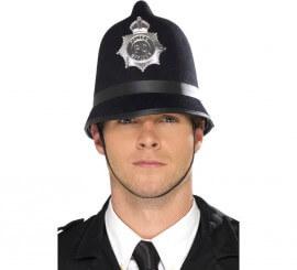 Casco de Fieltro de Policía con Insignia