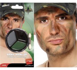 Maquillage Militaire Camouflage avec pinceau applicateur