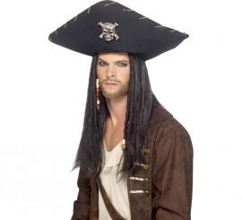 Sombrero Grande Pirata Negro