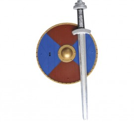 Kit de Guerrero Vikingo o Bárbaro Infantil: Espada y Escudo