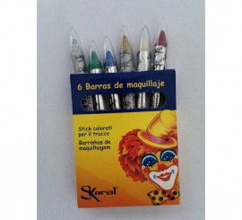 Set de 6 crayons de Maquillage assortiment 8x75 mm