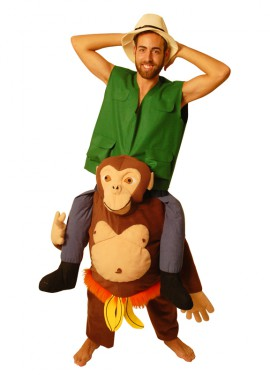 Disfraz de Chimpancé con Explorador para Adultos
