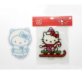 Pegatina gel gigante 25x25 cm. Hello Kitty