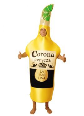 Disfraz de Botella de Cerveza Corona para Adultos talla Universal