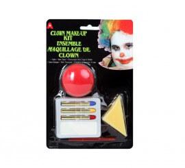 Set de Maquillage de Clown avec Nez pour Carnaval