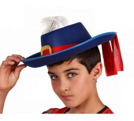 Sombrero azul de Mosquetero para niños