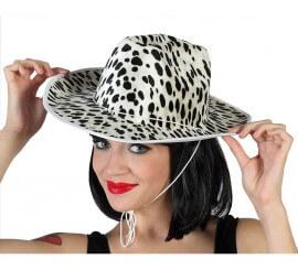 Sombrero Cowboy vaca blanco y negro