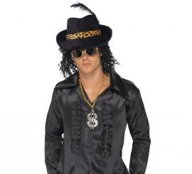 Sombrero de Chulo o Rapero color Negro con Leopardo