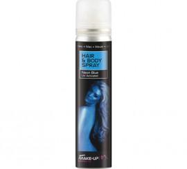Spray Pintura cuerpo y cabello Fluorescente Azul de 75 ml