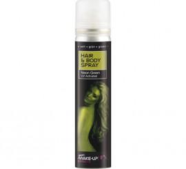 Spray Pintura cuerpo y cabello Fluorescente Verde  de 75 ml